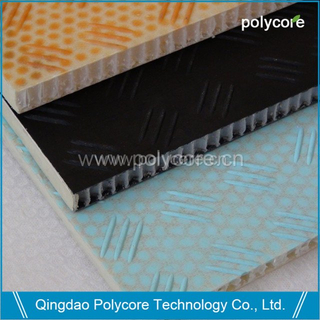 Scaffolding panel-waterproof light weight stiffness strength honeycomb sandwich panel
