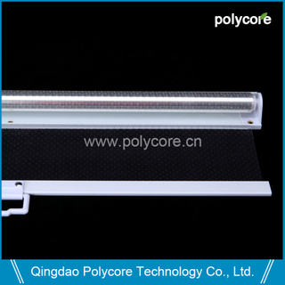 transparent single roll night blind for commercial refrigeration vertical or horizontal display showcase